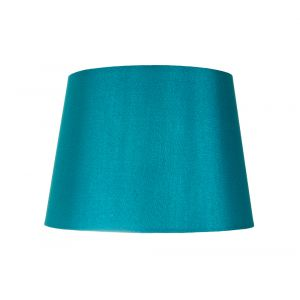 "Traditionally Designed Small 8"" Drum Lamp Shade in Unique Teal Faux Silk Fabric"