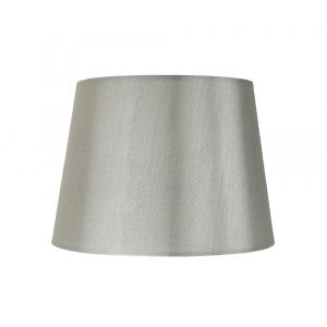 """Traditionally Designed Small 8"""" Drum Lamp Shade in Grey Faux Silk Fabric"""