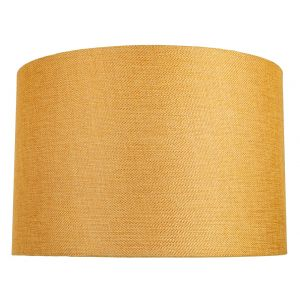 Contemporary and Sleek 12 Inch Ochre Linen Fabric Drum Lamp Shade 60w Maximum