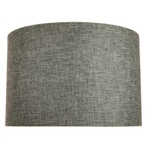 Contemporary and Sleek 12 Inch Grey Linen Fabric Drum Lamp Shade 60w Maximum