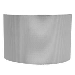 Contemporary Designer Grey Micro Pleat Ribbed Cotton Wall Lighting Fitting