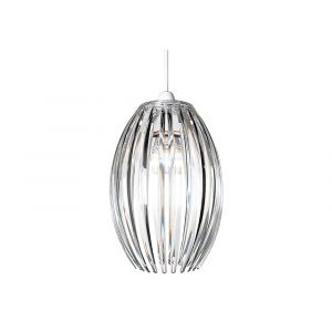 Modern Designer Easy Fit Pendant Shade with Beautiful Clear Acrylic Curved Rods