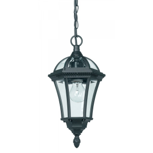 Black Exterior Hanging Porch Lantern Pendant Light