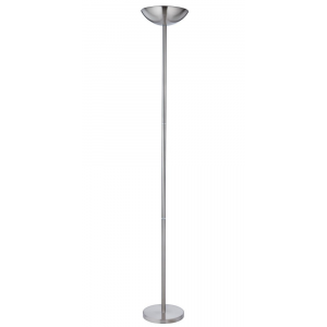 Powerful and Dimmable Low Energy Satin Chrome Floor Lamp Uplighter