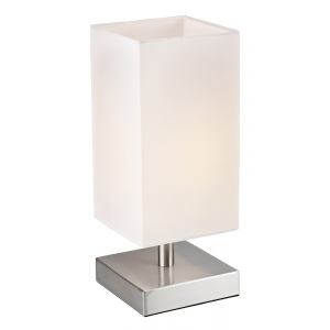 Contemporary Satin Chrome Touch Dimmable Table Lamp