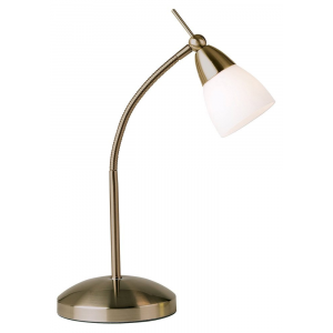 Low Energy Halogen Touch Dimmable Antique Brass Desk Lamp