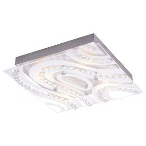 Modern LED Bathroom Light with Clear/Frosted Glass Plate