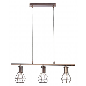 Antique Copper Pendant Ceiling Light with Cage Designed Shades