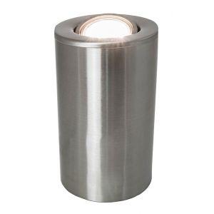 Satin Chrome GU10 Floor or Table Lamp Uplighter with Tilt Capability