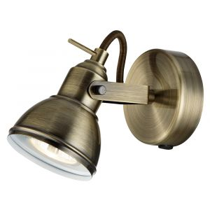 Unique Industrial Designed Antique Brass Wall Spot Light with Switch