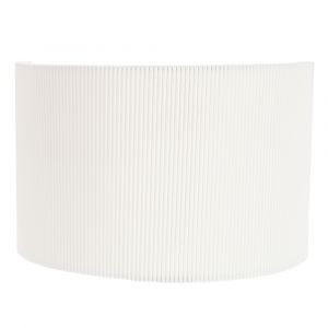 Contemporary Designer White Micro Pleat Ribbed Cotton Wall Lighting Fitting