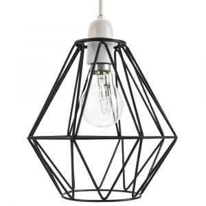 Industrial Basket Cage Designed Matt Black Metal Ceiling Pendant Light Shade