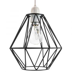 Industrial Basket Cage Designed Matt Black Metal Ceiling Pendant Light Shade