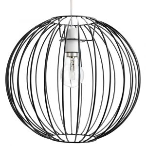 Industrial Basket Globe Cage Design Matt Black Metal Ceiling Pendant Light Shade