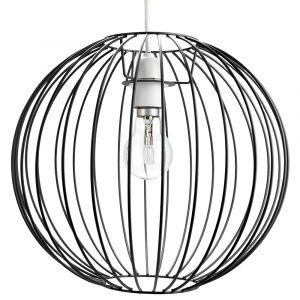 Industrial Basket Globe Cage Design Matt Black Metal Ceiling Pendant Light Shade