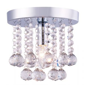 Chandelier Style 1-light Small Flush Mount Crystal Glass Ceiling Light Fitting