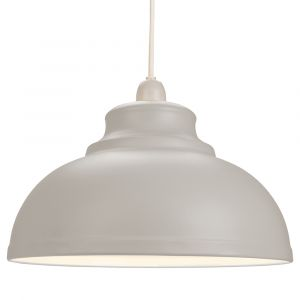 Industrial and Modern Galley Design Dove Grey Metal Ceiling Pendant Light Shade