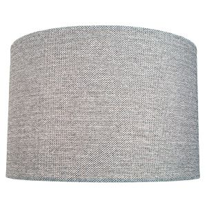 Modern and Sleek 30cm Width Light Grey Linen Fabric Drum Lamp Shade 60w Maximum