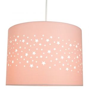 Stars Decorated Children/Kids Soft Pink Cotton Bedroom Pendant or Lamp Shade