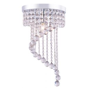 Modern Ceiling Light Pendant Fitting Lighting Crystal Glass Chandelier in Chrome