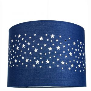 Stars Decorated Children/Kids Midnight Blue Cotton Bedroom Pendant or Lamp Shade