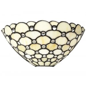 Traditional Clear Glass Tiffany Wall Light Fitting with Multiple Circular Beads