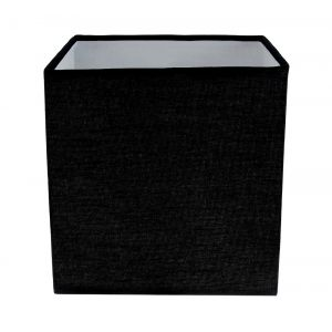Contemporary and Stylish Ash Black Linen Fabric Square 16cm Lamp Shade