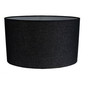 Contemporary and Stylish Ash Black Linen Fabric Oval Lamp Shade - 30cm Width