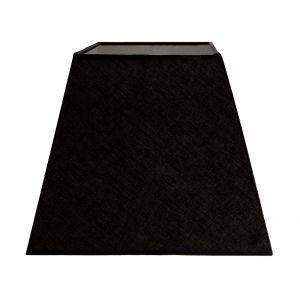 "Contemporary and Stylish Ash Black Linen Fabric 10"" Empire Square Lamp Shade"