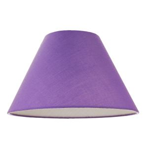 """12"""" Soft Violet Cotton Coolie Lampshade Suitable for Table Lamp or Pendant"""