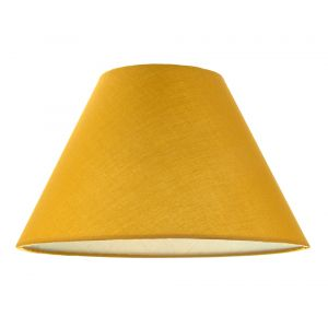 """Traditional 12"""" Ochre Cotton Coolie Lampshade Suitable for Table Lamp or Pendant"""