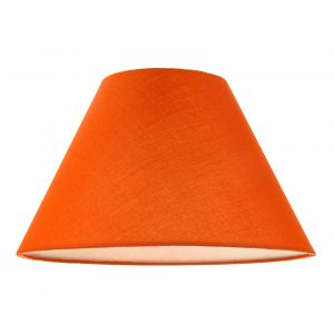 """12"""" Vibrant Oange Cotton Coolie Lampshade Suitable for Table Lamp or Pendant"""