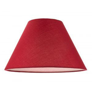 """12"""" Vibrant Burgundy Cotton Coolie Lampshade Suitable for Table Lamp or Pendant"""