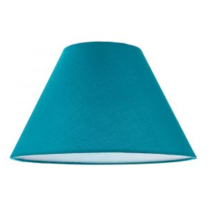 """12"""" Vibrant Teal Cotton Coolie Lampshade Suitable for Table Lamp or Pendant"""