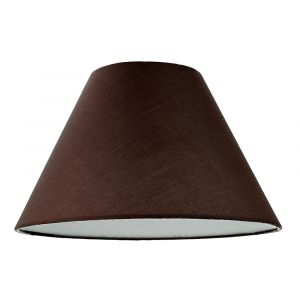 """12"""" Chocolate Brown Cotton Coolie Lampshade Suitable for Table Lamp or Pendant"""