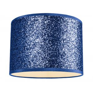 Modern and Designer Midnight Blue Glitter Fabric Pendant/Lamp Shade 25cm Wide