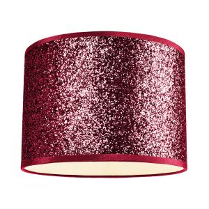 Modern and Designer Deep Red Glitter Fabric Pendant/Lamp Shade 25cm Wide
