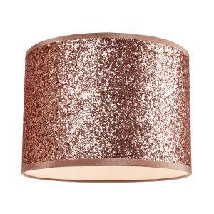 Modern and Designer Bright Copper Glitter Fabric Pendant/Lamp Shade 25cm Wide