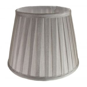 """Traditional Classic Silver Faux Silk Pleated Inner Lined Lampshade - 10"""" Wide"""