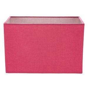 Contemporary and Stylish Vivid Pink Linen Fabric Rectangular Lamp Shade