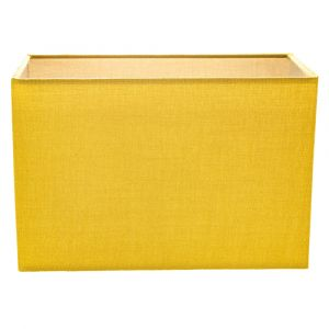Contemporary and Stylish Vivid Mustard Ochre Linen Fabric Rectangular Lamp Shade