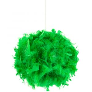 Eye-Catching and Modern Small Green Feather Decorated Pendant Lighting Shade