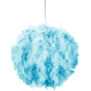 Eye-Catching and Modern Small Teal Feather Decorated Pendant Lighting Shade