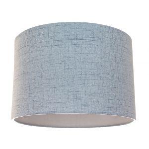 Contemporary and Sleek Blue Textured Linen Fabric Drum Lamp Shade 60w Maximum