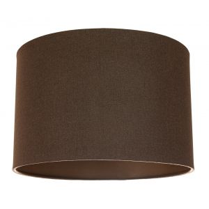 Contemporary and Sleek Brown Textured Linen Fabric Drum Lamp Shade 60w Maximum
