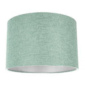 Contemporary and Sleek Mint Plain Linen Fabric Drum Lamp Shade 60w Maximum