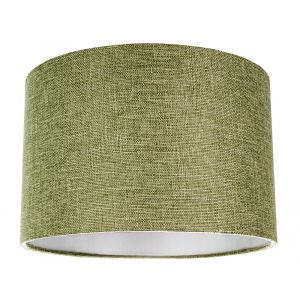 Contemporary and Sleek Olive Sage Plain Linen Fabric Drum Lamp Shade 60w Maximum
