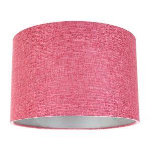 Contemporary and Sleek Pink Plain Linen Fabric Drum Lamp Shade 60w Maximum