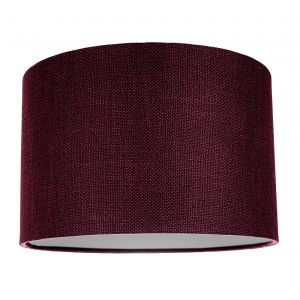 Contemporary and Sleek Purple Plain Linen Fabric Drum Lamp Shade 60w Maximum
