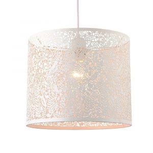 Unique and Beautiful Matt White Metal Nature Designed Ceiling Pendant Shade